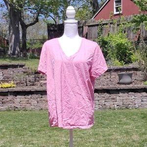 Eddie Bauer pink short sleeved tee blouse XXL
